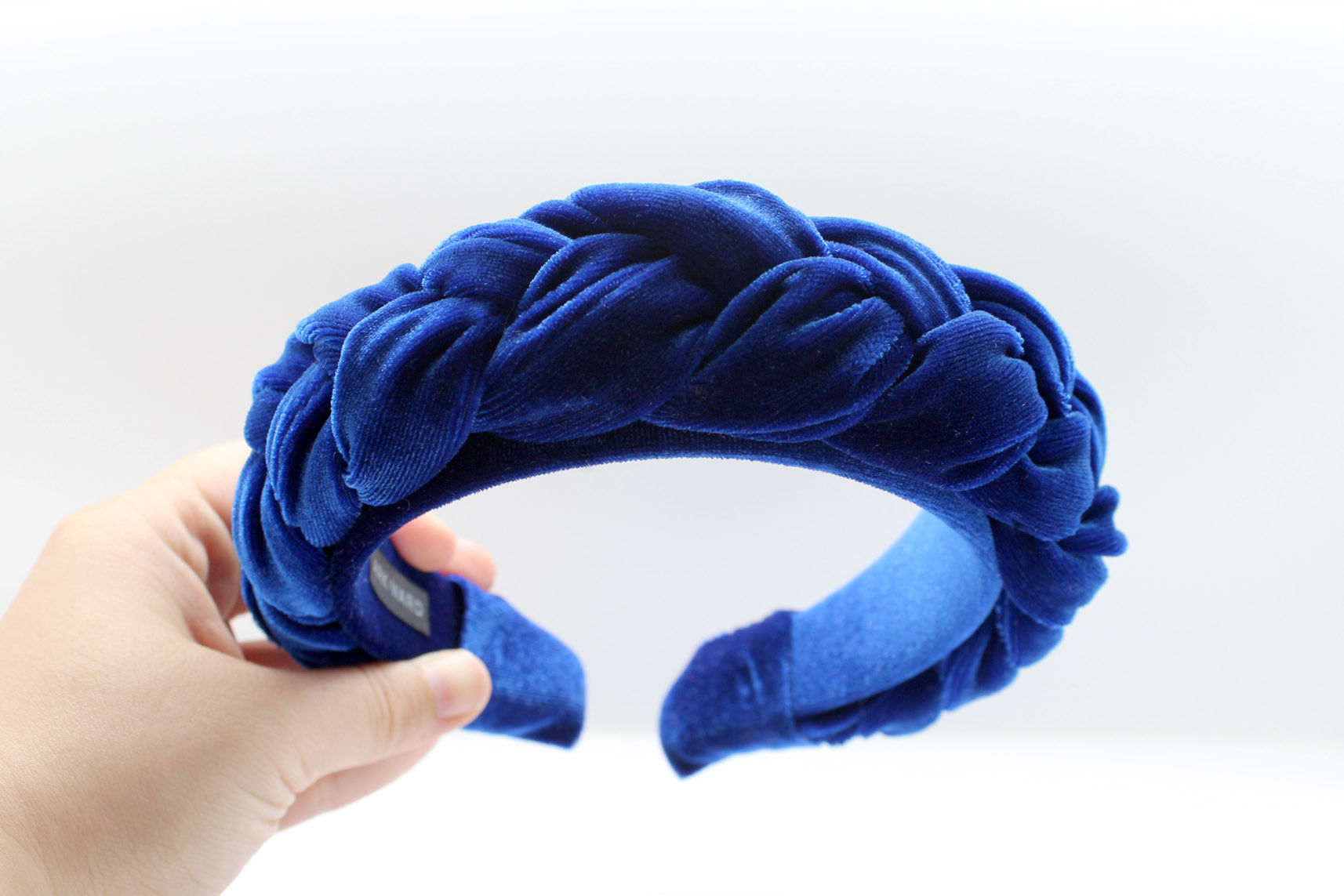 ARKWARD Royal Blue Velvet Braided Headband