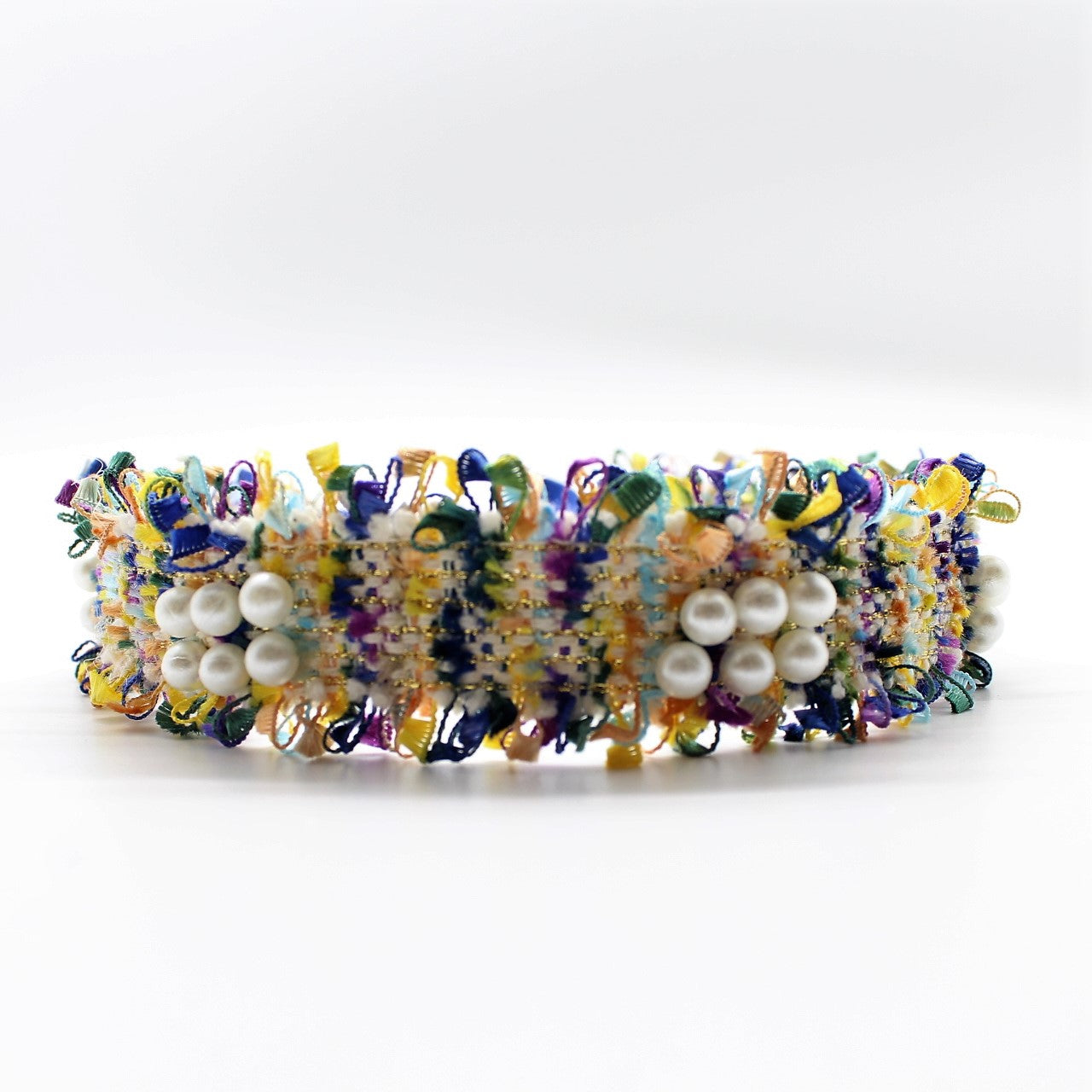 Yellow pearl Boucle Headband