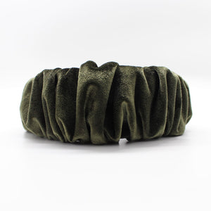 Olive Green Ruffle Headband