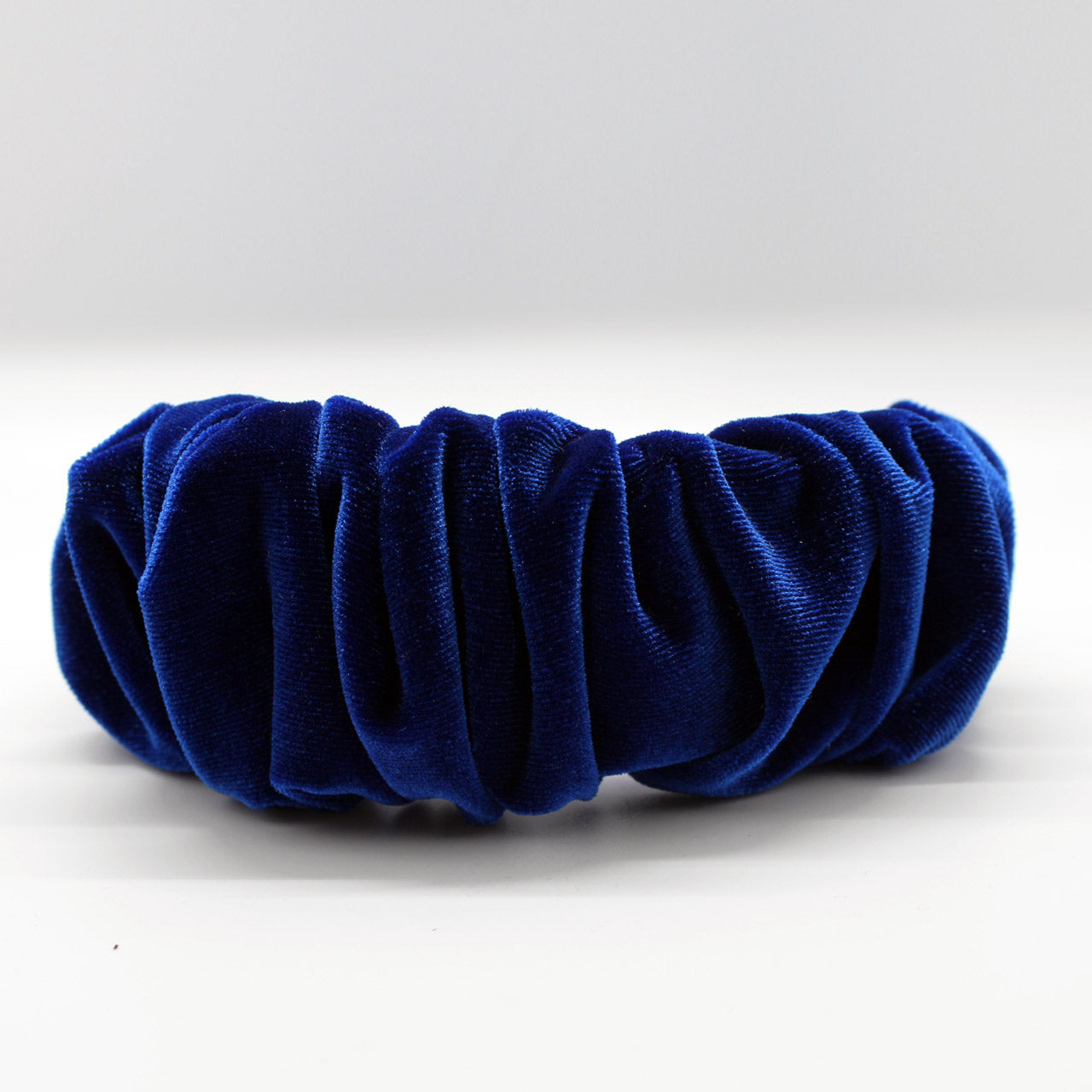ARKWARD Royal Blue Velvet Ruffle Headband