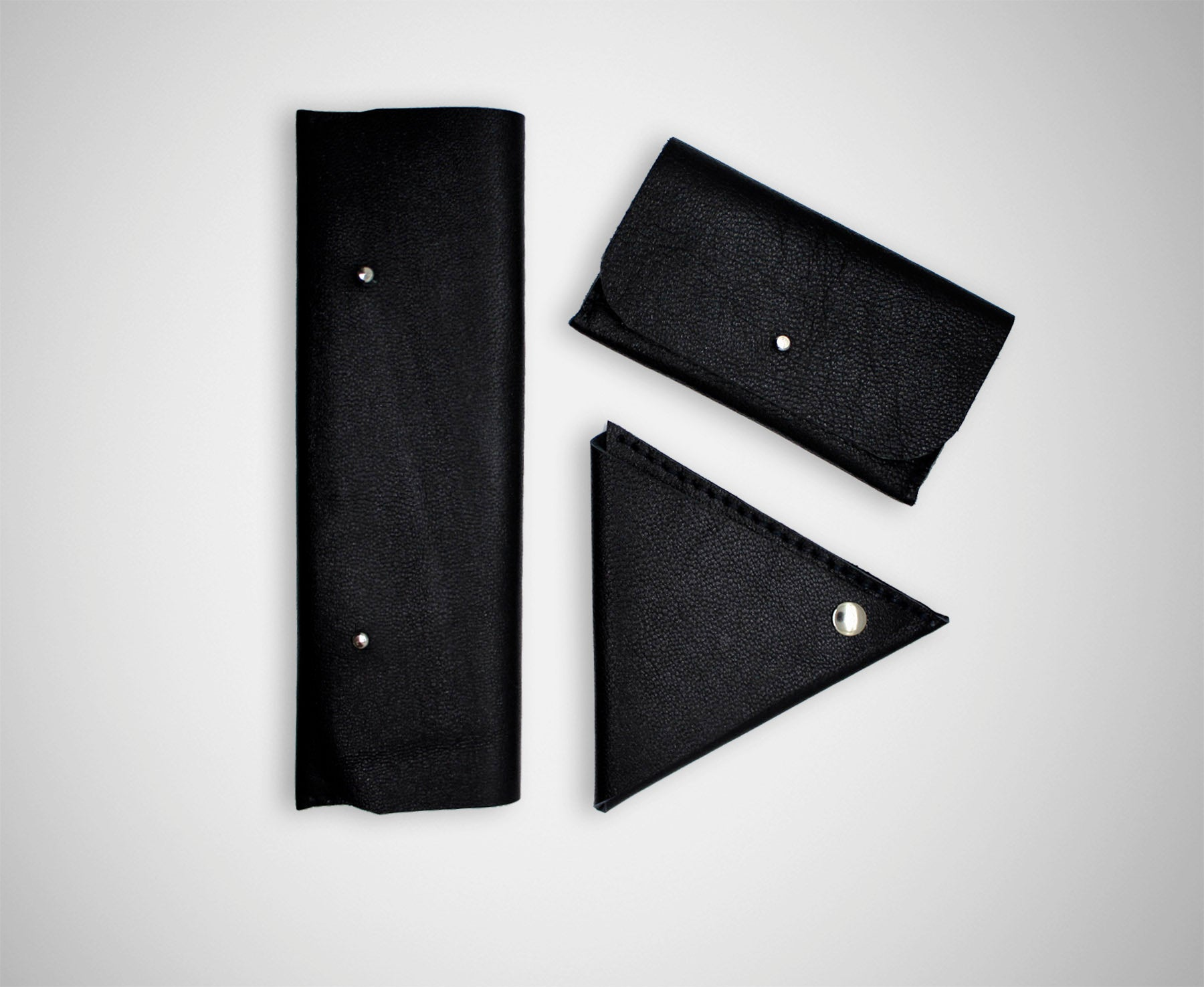 ARKWARD BLACK LEATHER POUCHES