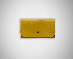 ARKWARD CANARY LEATHER CARD CASE