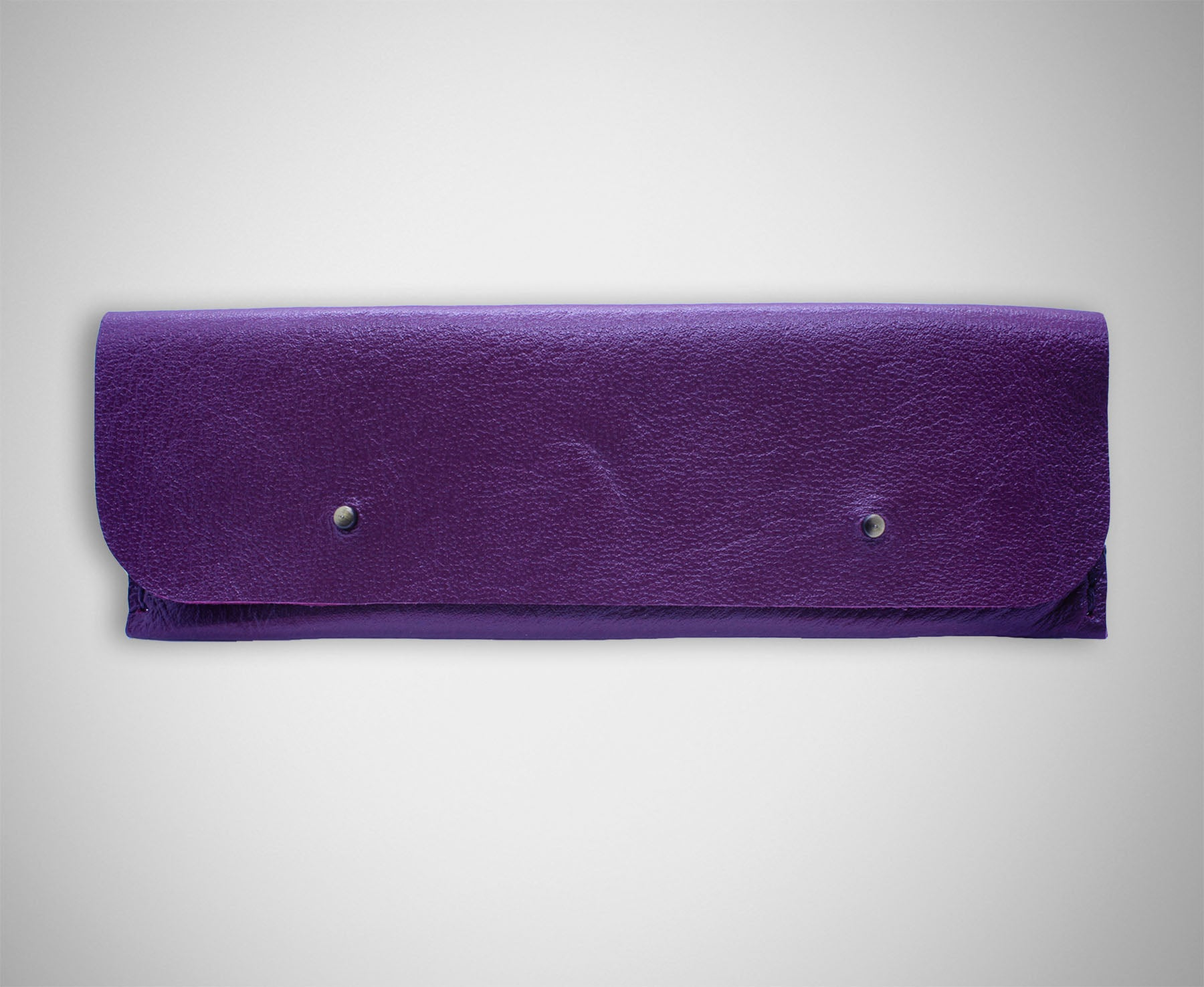 ARKWARD PURPLE LEATHER PEN POUCH