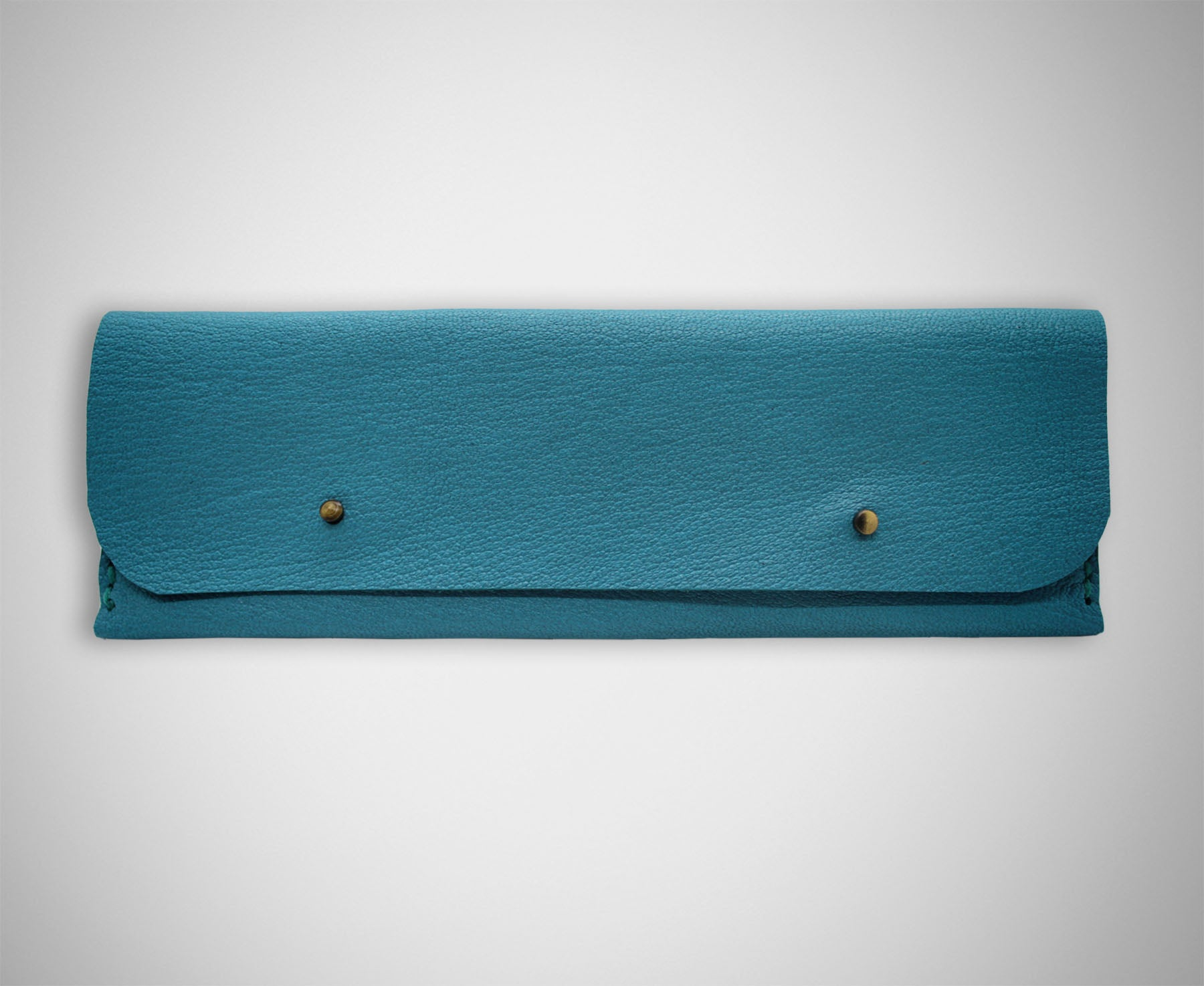 ARKWARD CERULEAN LEATHER PEN POUCH