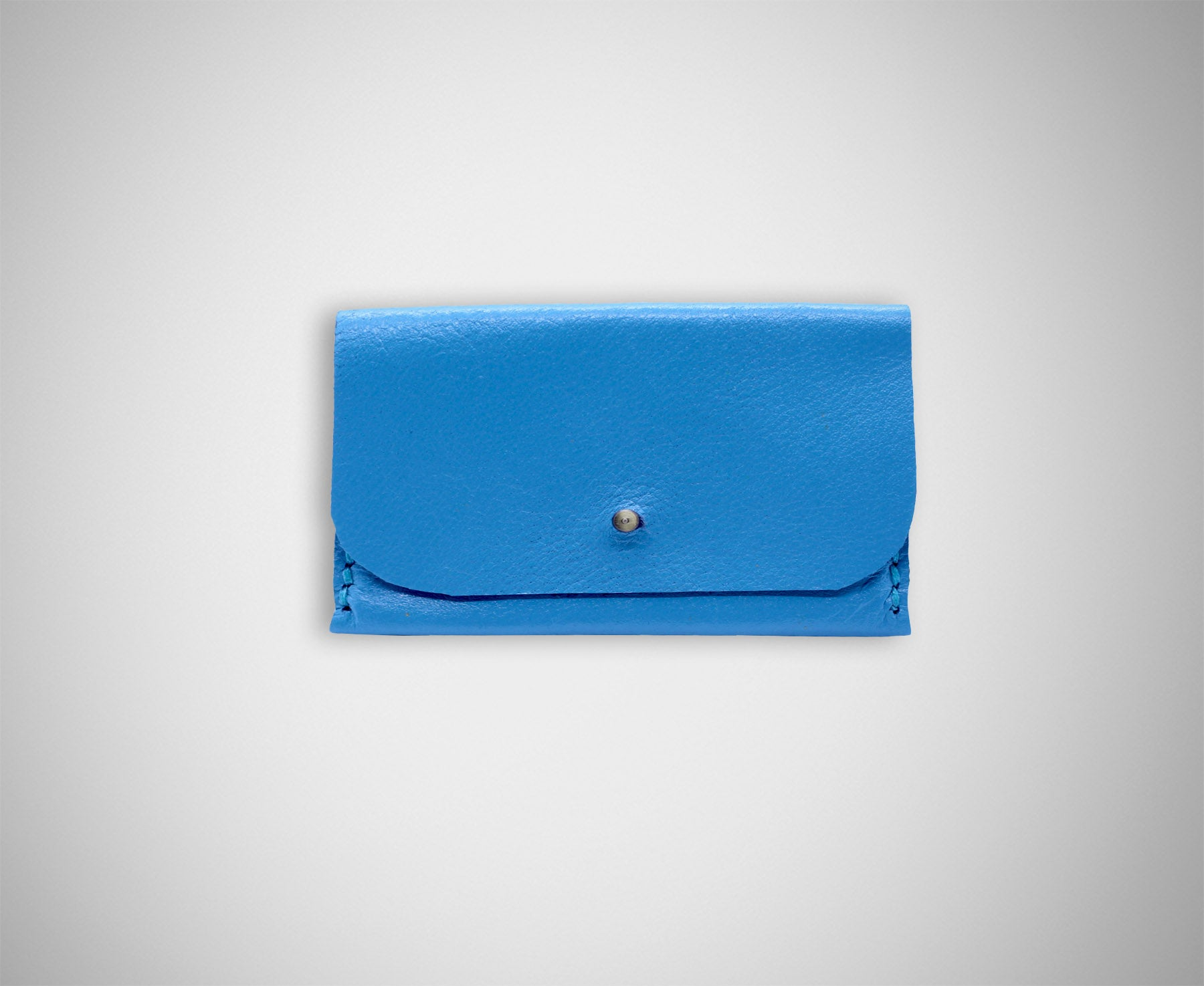 ARKWARD BLUE LEATHER CARD CASE
