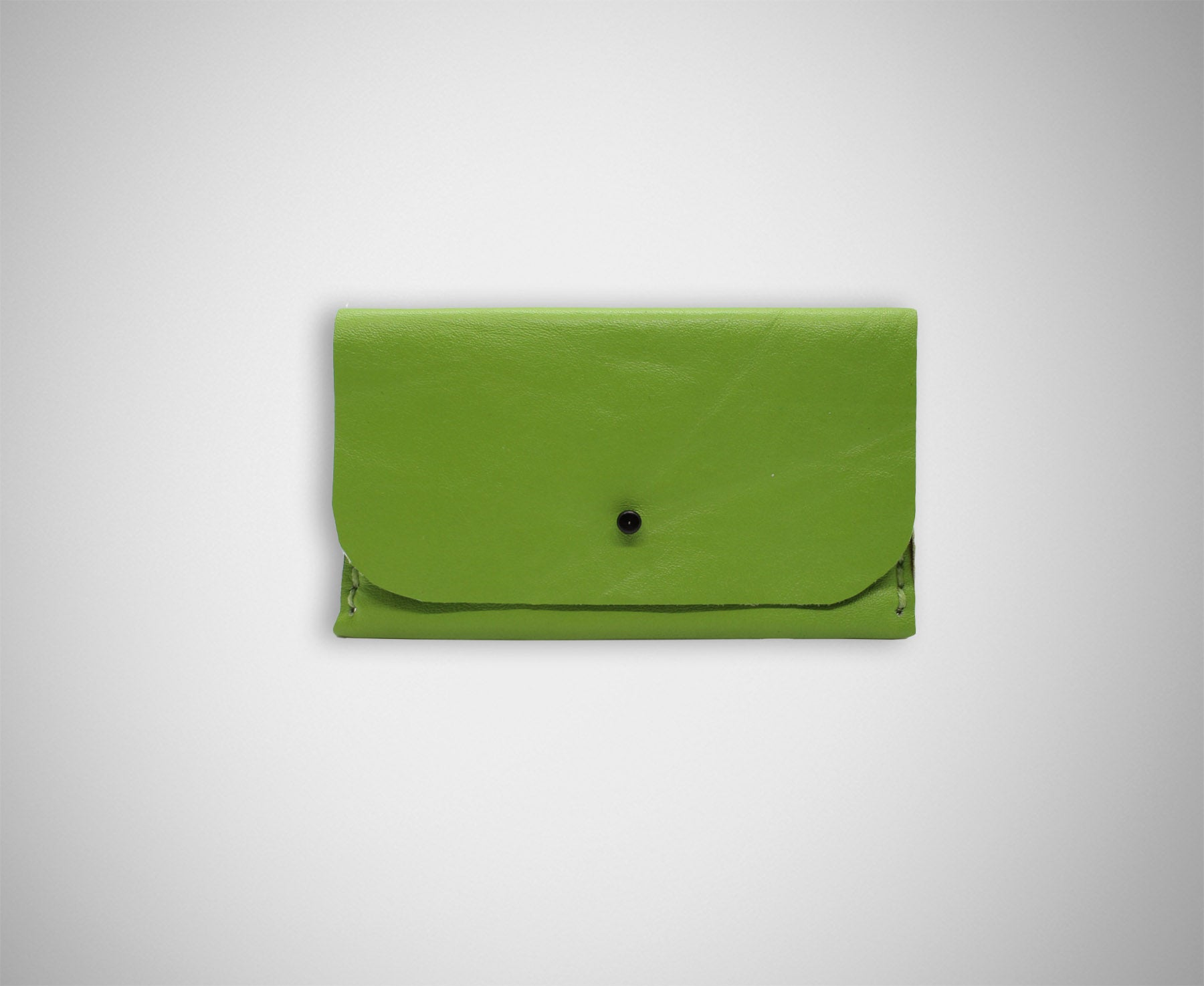 ARKWARD LIME LEATHER CARD CASE