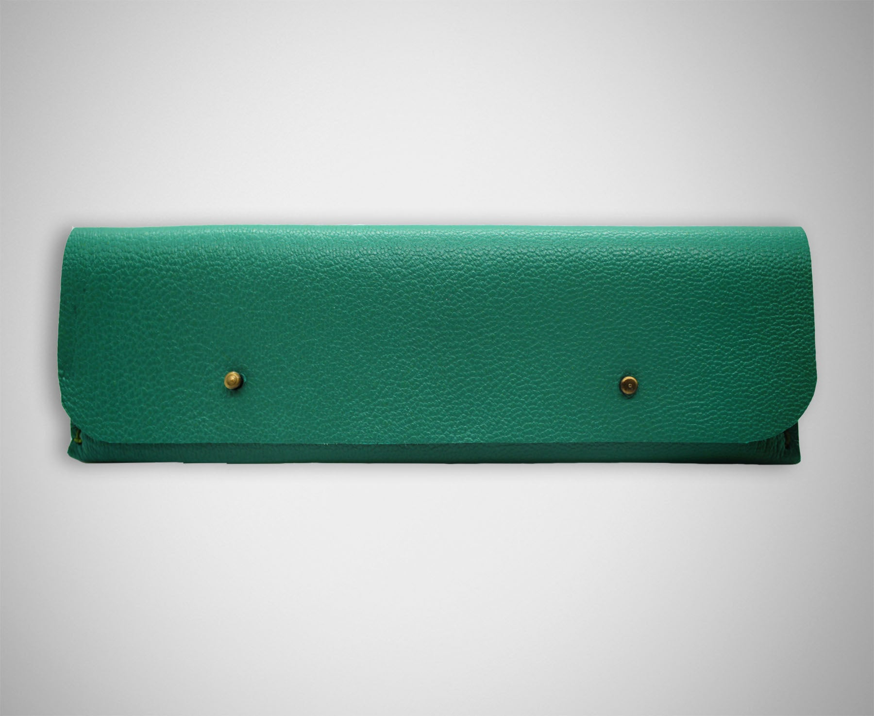 ARKWARD TEAL LEATHER PEN POUCH