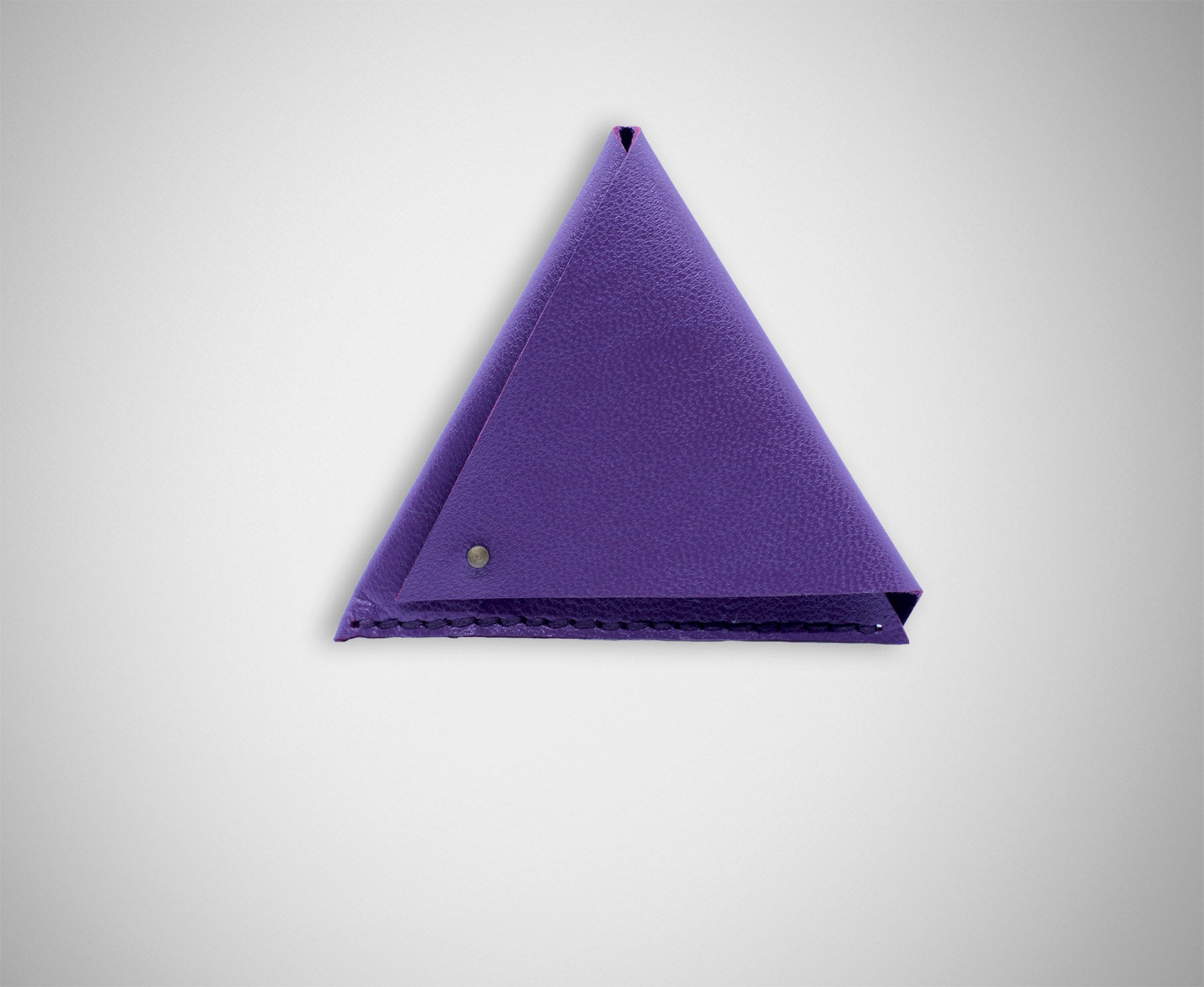 ARKWARD PURPLE LEATHER COIN POUCH