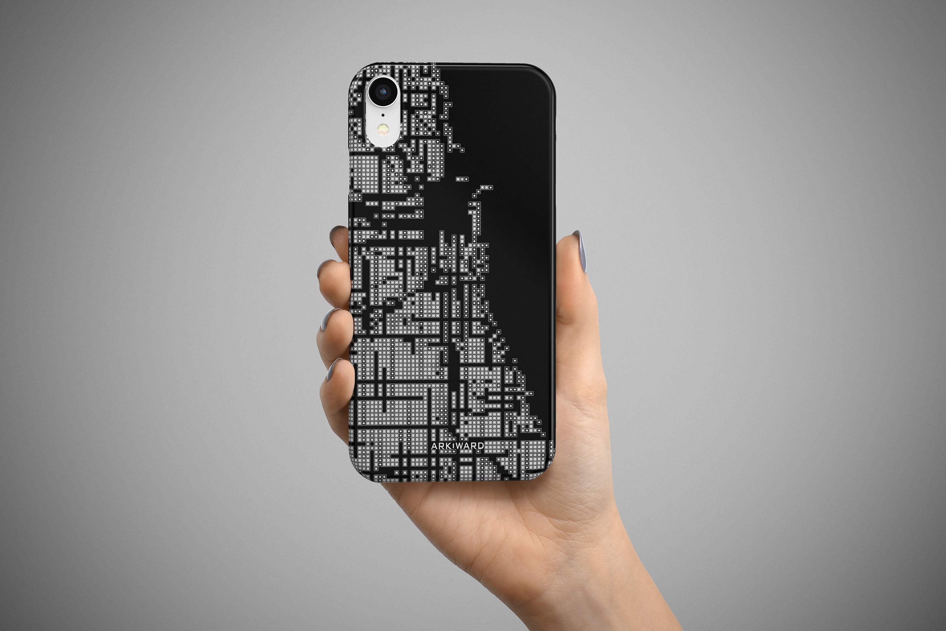 Arkward Black Chicago map iPhone case