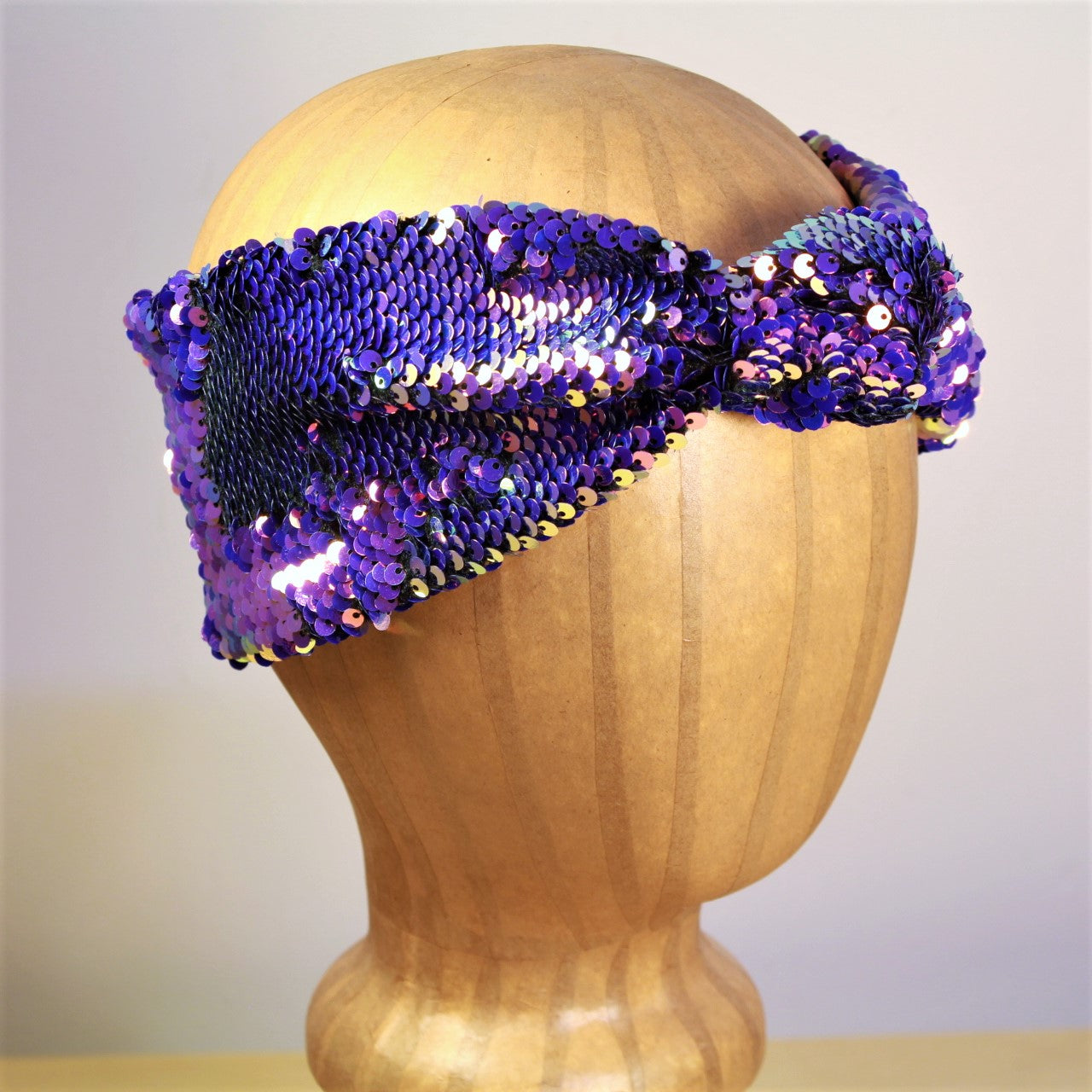 Arkward Purple Sequin Turban Headband
