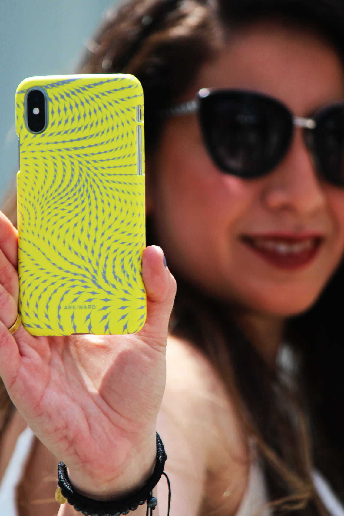 Arkward Yellow iPhone Case