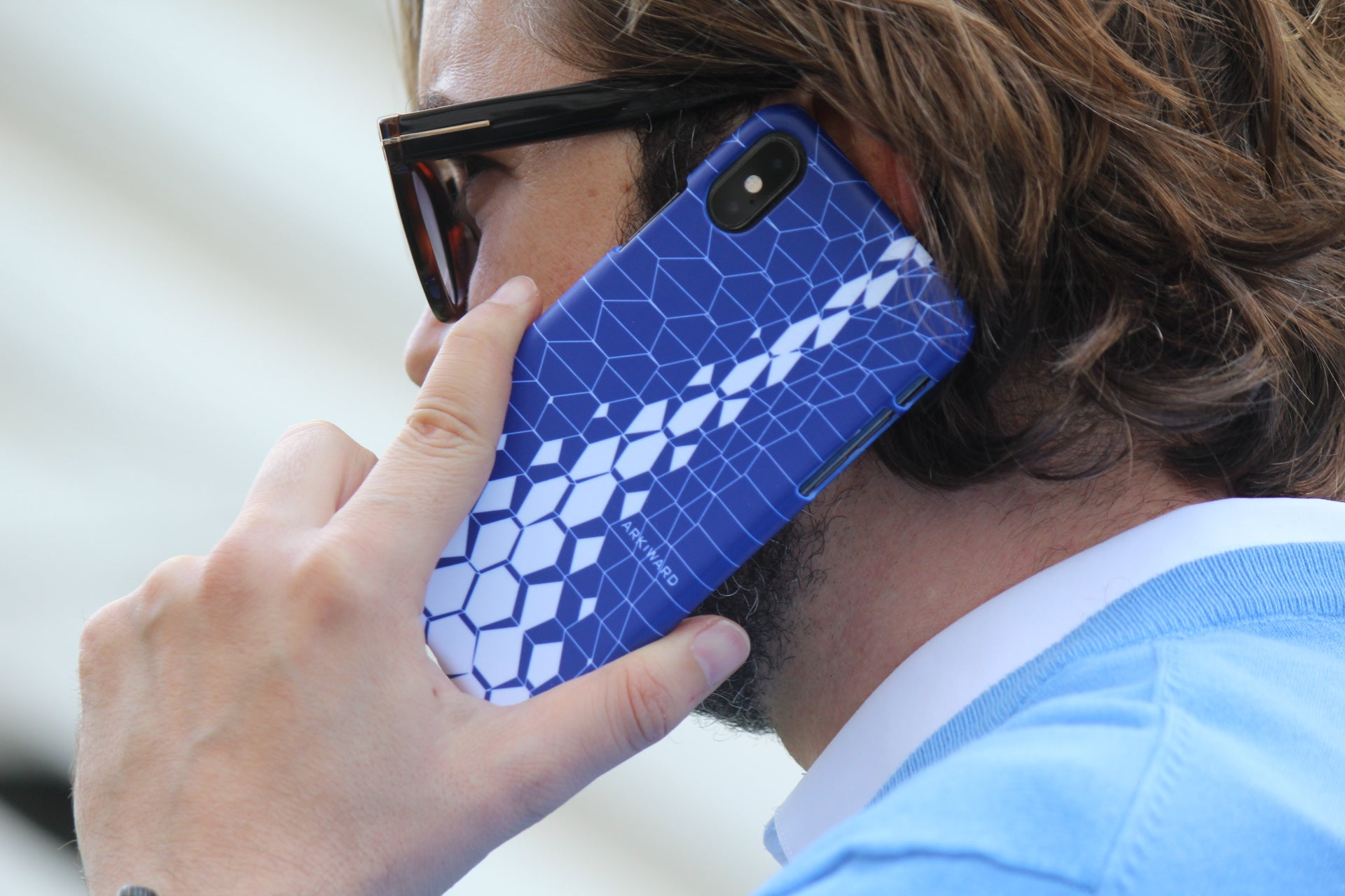 Arkward Blue Aperture iPhone Case