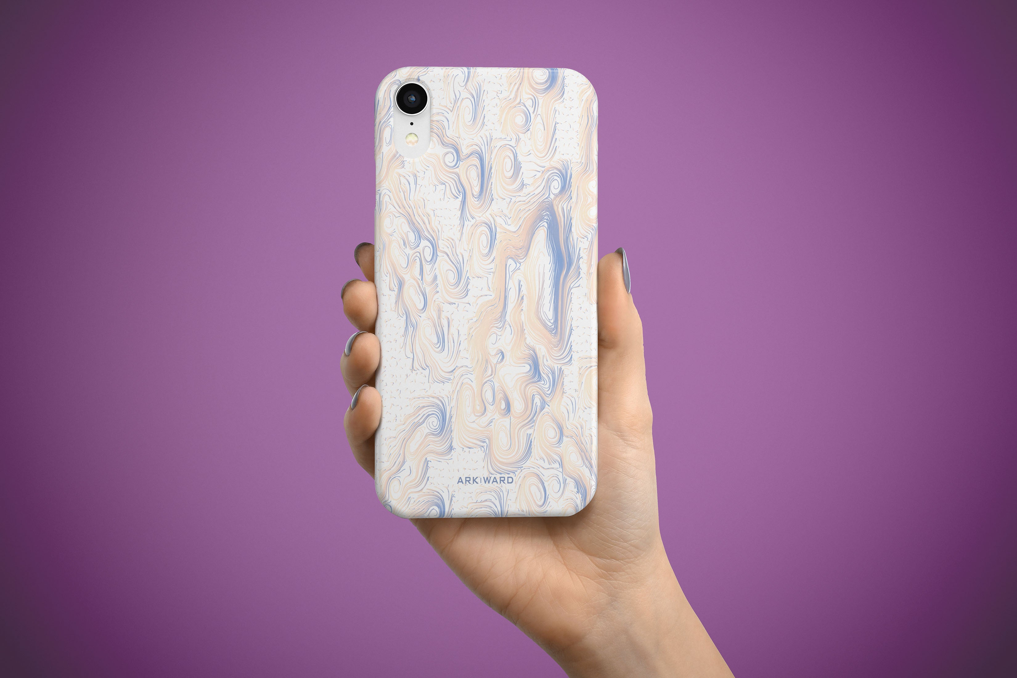 Arkward Orchid Pastel Blue iPhone Case
