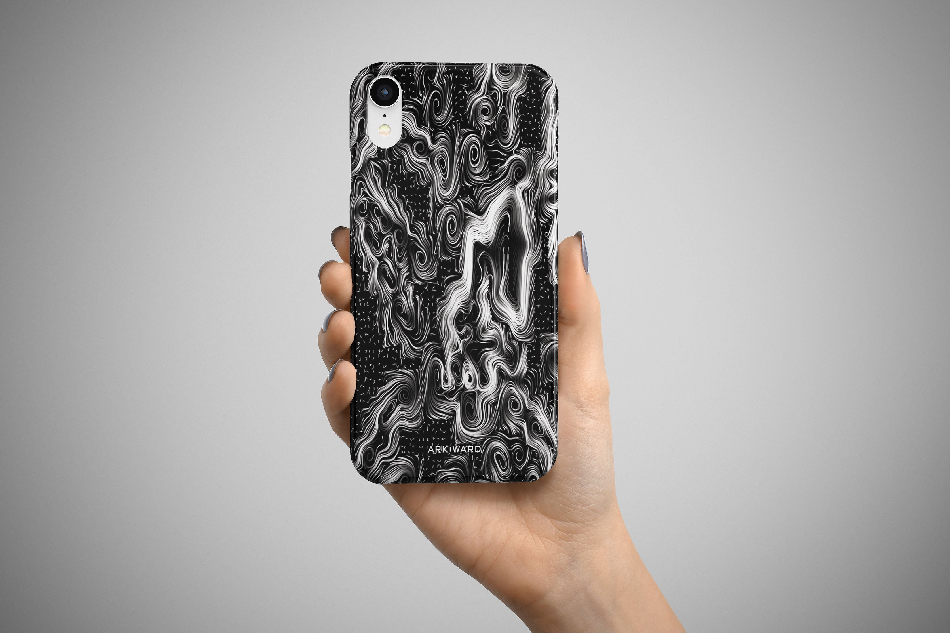 Arkward Orchid Pastel Black iPhone Case