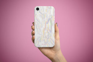 Arkward Orchid Pastel Pink iPhone Case