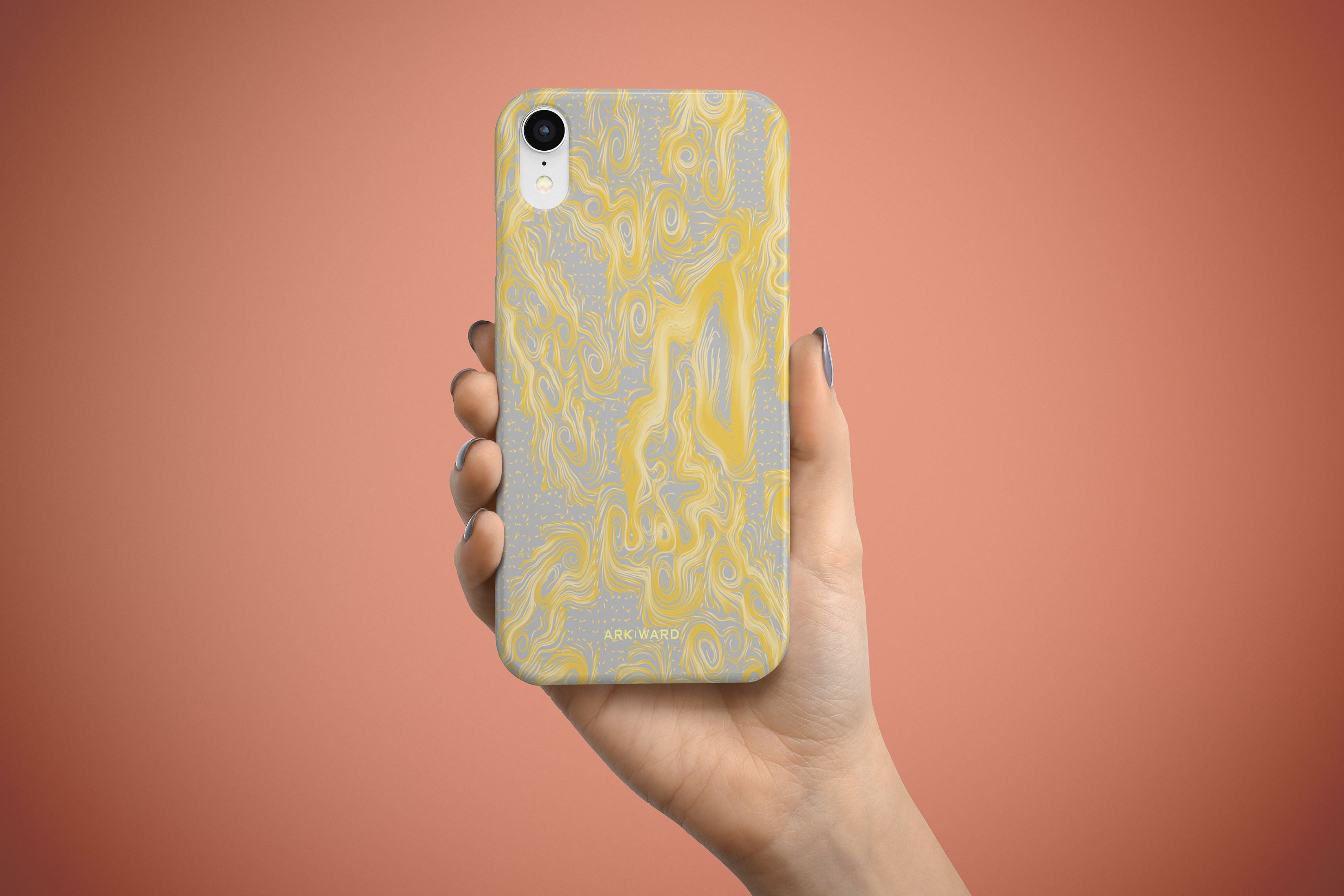 Arkward Orchid Yellow iPhone Case