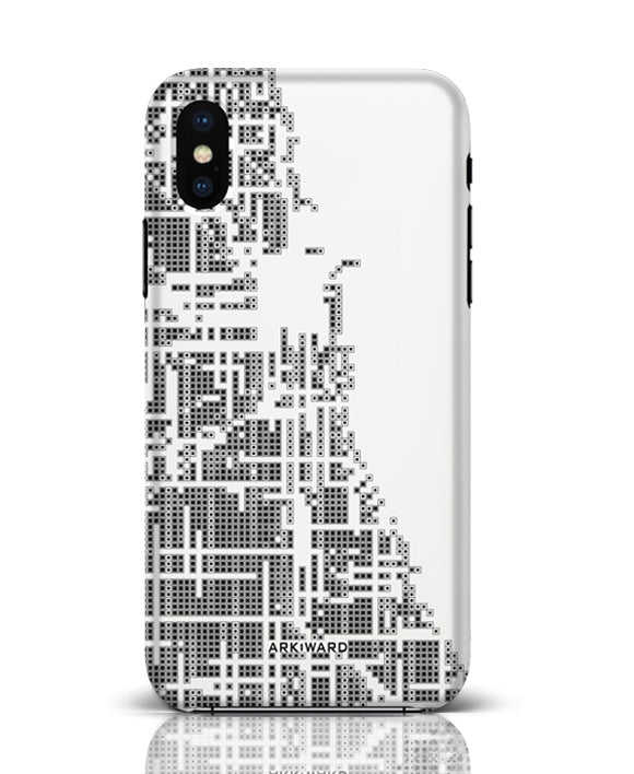 Arkward White Chicago map iPhone case