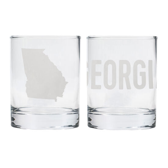 Georgia Rocks Glass Set