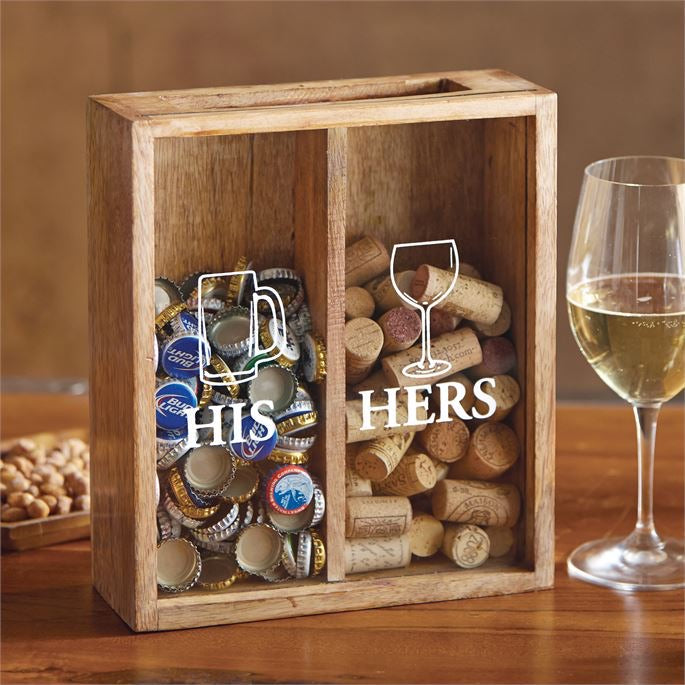 His & Hers Drink Tops Box from Mudpie