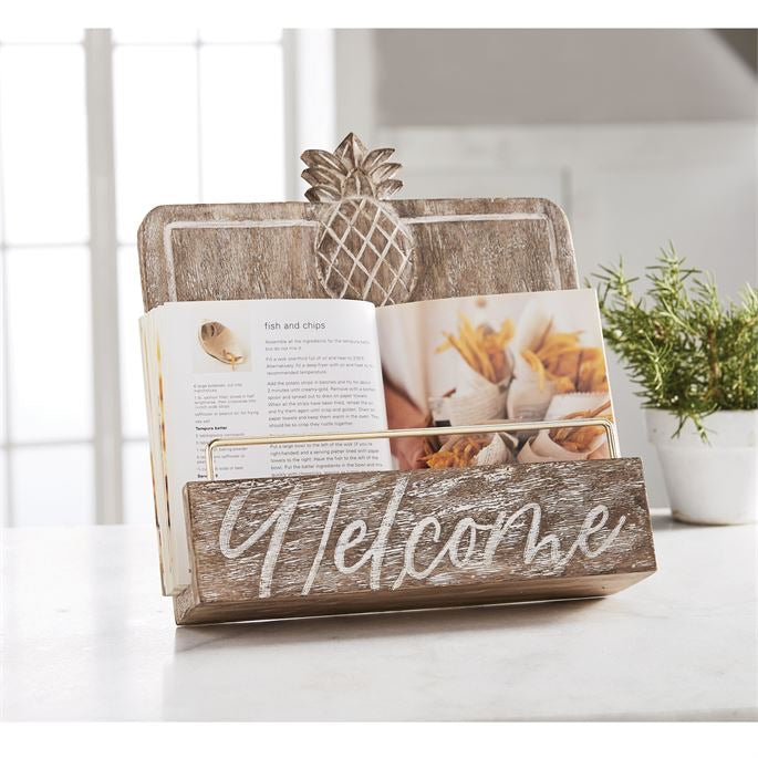 Welcome Cookbook Stand from Mudpie