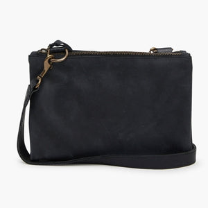 ABLE Martha Snap Crossbody in Black