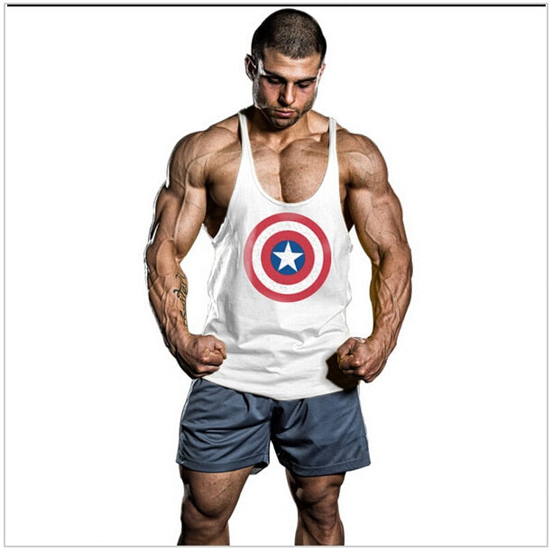 22d9860977c95 Super Hero Captain America brand clothing Singlets Mens Tank Top Muscle  Shirt Superman Stringer Bodybuilding Fitness