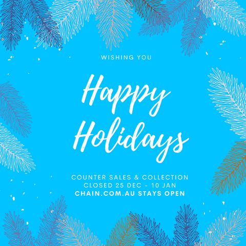Happy holidays from chain.com.au