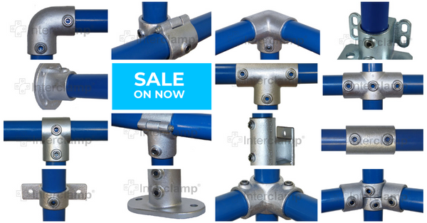 10% off rail and pipe fittings by Interclamp