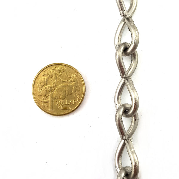Australian made Single Jack Chain in marine grade stainless steel, size 3.15mm, purchase by the metre. Made in Melbourne, Australia.
