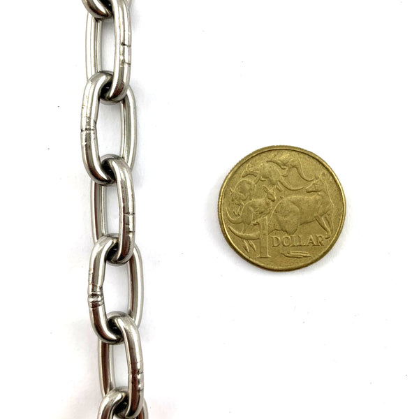 Welded Link Chain - Stainless Steel - 3mm. By the metre. Melbourne, Australia
