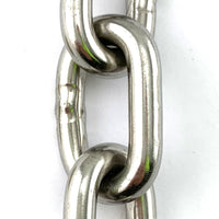 8mm stainless steel welded link chain in a 25kg bucket, with 19 metres of chain. Melbourne Australia