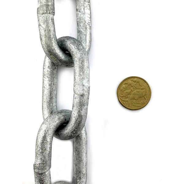 AS Galvanised Trailer Chain 10mm x 25kg (13m)