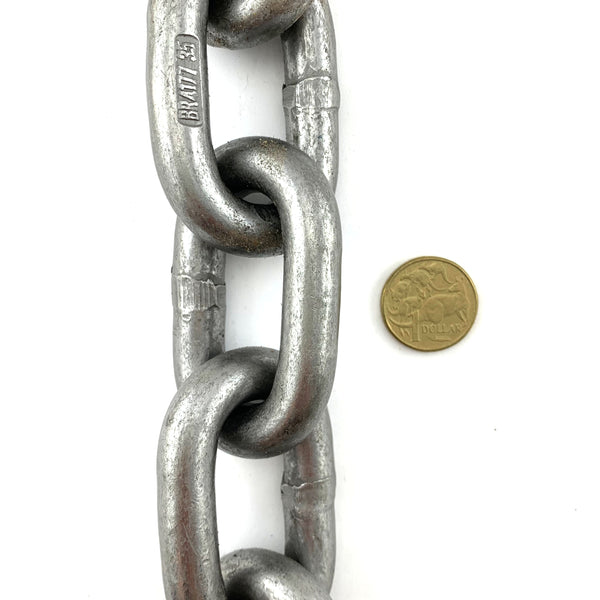 AS Plain Steel Trailer Chain 13mm. By the metre. Melbourne, Australia