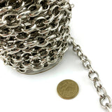Chrome-plated box chain, size: 4mm. Order by the metre. Australia wide delivery.