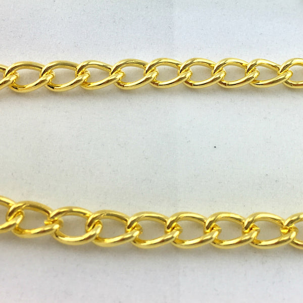 curb chain long gold plated size CL150.