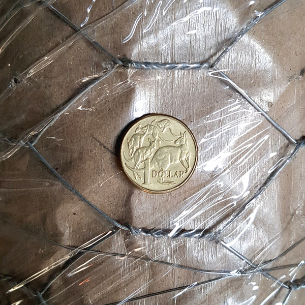 Chicken Wire - 1.2mm x 50.8mm (2-inch) opening x 30 metre roll. Melbourne Australia.