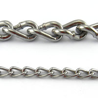 Decorative Chrome Curb Chain, by the metre. Australia wide delivery