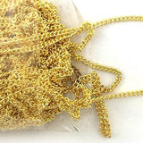 Gold plated curb chain. Jewellery chain Australia wide delivery.