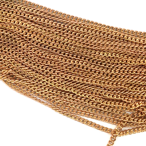 Jewellery Curb Chain in copper, size C100 - 1.0mm. Quantity 25 metres.