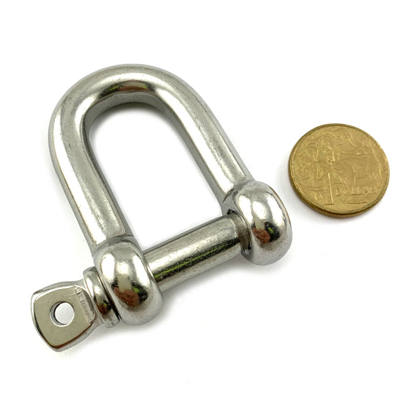 D Shackle in Stainless Steel, size: 10mm