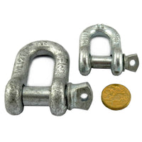 D Shackle Galvanised 1 Tonne, Melbourne Australia