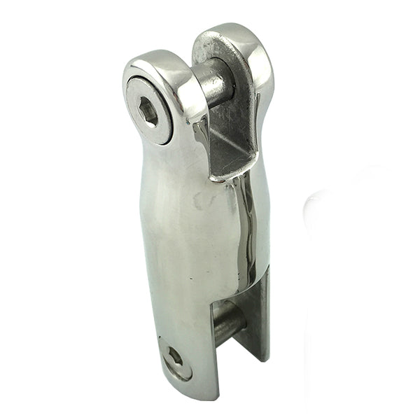 Fixed anchor connector, size: 90mm in marine grade type 316 stainless steel. Melbourne and Australia wide.