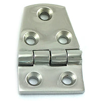 Stainless Steel Flat Hinge in type 316 Marine Grade stainless steel, size 56mm x 38mm. Melbourne Australia.