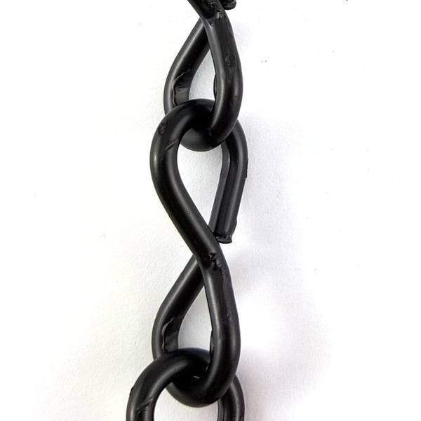 Commercial Jack Chain in Black powder coated finish, size: 3.2mm, by the metre. Melbourne, Australia.