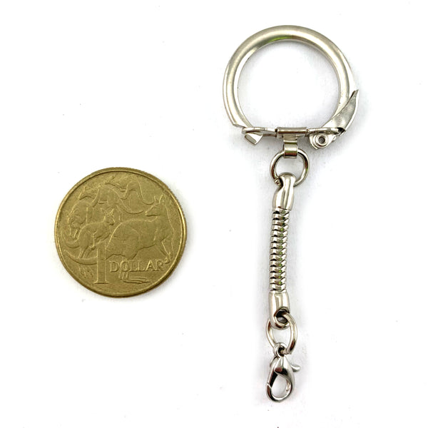 Nickel key chains with a beautiful high polished finish, packaged in bags of 100. Melbourne and Australia wide.