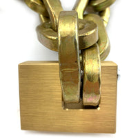 Monoblock padlock with Double-hardened premium square security chain, size: 10.5mm, order by the metre. Australia.