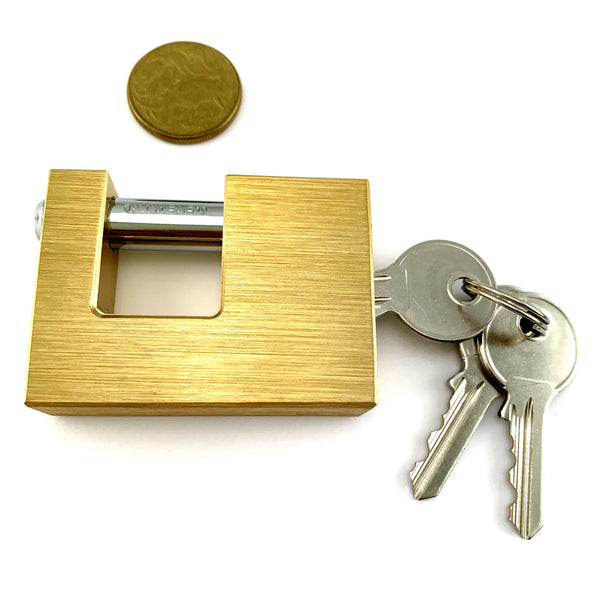 High-Security Monoblock Padlock. Shackle size: 12mm. Australia wide delivery.