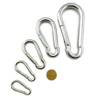 Snap hooks in zinc plated steel. Various sizes available. Shop hardware online.