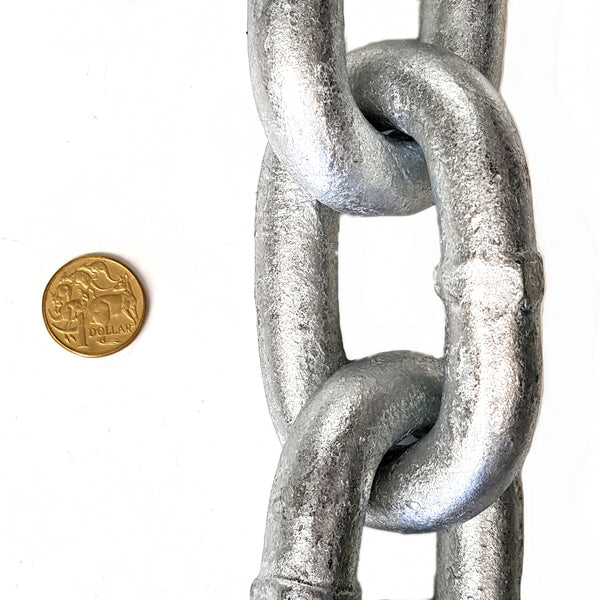 5mm galvanised welded link steel chain. By the metre. Australia wide.