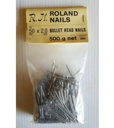 Bullet Head Nails - 50mm x 2mm - 500g Bag